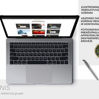"""škirtinis svetainės ar elektronines parduotuvės dizaino sukūrimas. Optimaliausias wordpress turinio sistemos šablono parinkimas. SEO, """"Google AdWords"""", """"Facebook"""" reklamos, straipsnių r ..."""