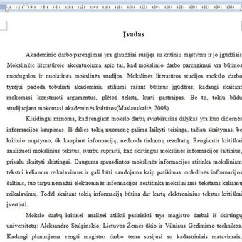 Darbų taisymas, referavimas,mokslinių šaltinių paieška / Akademinės /rašymo paslaugos / Darbų pavyzdys ID 671397