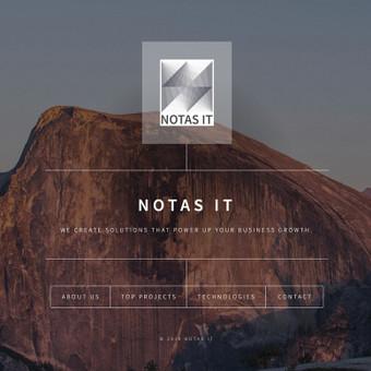 Sistemų analizė, kūrimas ir optimizavimas / NOTAS IT / Darbų pavyzdys ID 671911