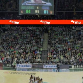 """ACME reklama """"Žalgirio"""" arenoje"""