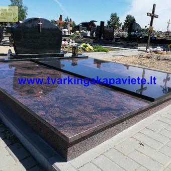 Kapų tvarkymas, paminklų gamyba, granito plokštės kapams / Artur Osipovič / Darbų pavyzdys ID 677839