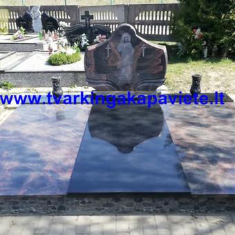 Kapų tvarkymas, paminklų gamyba, granito plokštės kapams / Artur Osipovič / Darbų pavyzdys ID 677891
