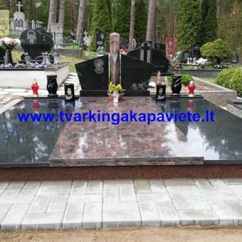 Kapų tvarkymas, paminklų gamyba, granito plokštės kapams / Artur Osipovič / Darbų pavyzdys ID 677893