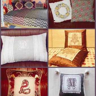 Pagalvės ir pagalvėlės. Vardinės, jaunavedžiams, namų puošybai, bei dovanoms.