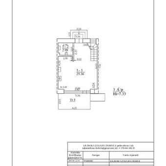 Vienbučio namo ir sodo namelio matavimai ir bylos formavimas