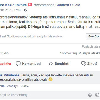 GERULĖ 55 m2 FOTOSTUDIJA VILNIUJE / Linas Bielinis / Darbų pavyzdys ID 691025