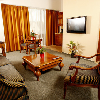 Dviejų miegamųjų apartamentai su vaizdu i Friedricho pasažą