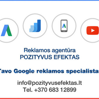 Profesionalus Google reklaminės kampanijos sukūrimas. 100% optimizavimas.