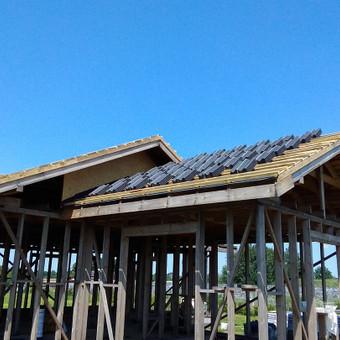 Karkasiniu namu statyba remontas  renovavimas Stogu dengimas / ovidijus / Darbų pavyzdys ID 696377