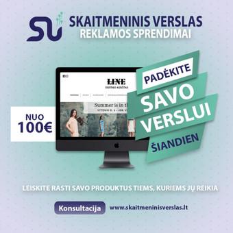 Internetinių svetainių, parduotuvių kūrimas / MB Skaitmeninis verslas / Darbų pavyzdys ID 698271