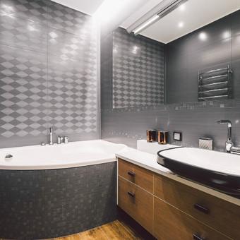 Vonios kambario interjero dizainas. Klaipėda. 2016 m.