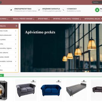#1 Interneto svetainių, bei parduotuvių kūrimas,  SEO / Jonas Urbonas / Darbų pavyzdys ID 701795