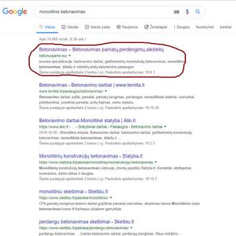 Svetainės statybininkams TELEFONU, SEO optimizavimas. / Georgijus Jemeljanovas / Darbų pavyzdys ID 703709