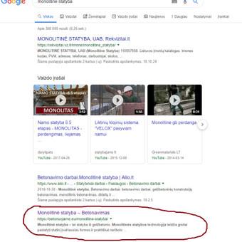 Svetainės statybininkams TELEFONU, SEO optimizavimas. / Georgijus Jemeljanovas / Darbų pavyzdys ID 703713