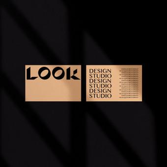 LOOK Studio logotipas ir vizitinė
