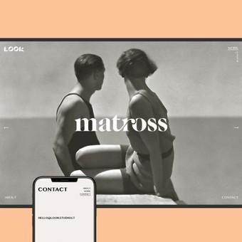 LOOK Studio logotipas ir svetainės dizainas