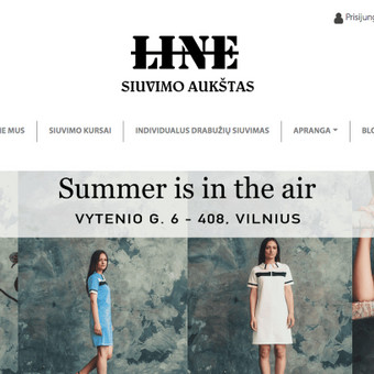 """line-siuvimoaukstas.lt - tai individualios mados rūbų parduotuvė sukurta su WooCommerce, suprogramuojant """"custom"""" puslapį"""