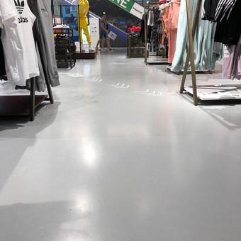 ULTRATOP dekoratyvinio betono grindų danga. Adidas parduotuvė Rygoje. http://velvemst.lt/uploads/517_ultratop_lt_160318.pdf