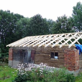 Karkasiniu namu statyba remontas  renovavimas Stogu dengimas / ovidijus / Darbų pavyzdys ID 708129