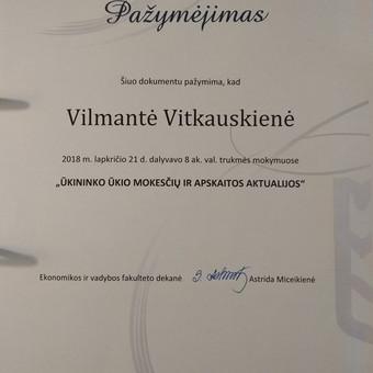 Buhalterinė apskaita įmonėms ir ūkininkams / UAB Vilnervita / Darbų pavyzdys ID 708999