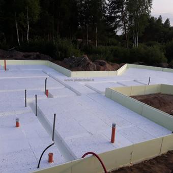Plokštuminių pamatai, pagrindo paruošimas, betonavimas / MB Šilti pamatai / Darbų pavyzdys ID 715281