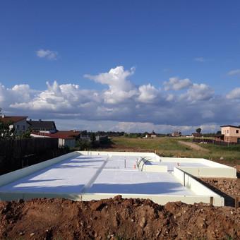 Plokštuminių pamatai, pagrindo paruošimas, betonavimas / MB Šilti pamatai / Darbų pavyzdys ID 715283