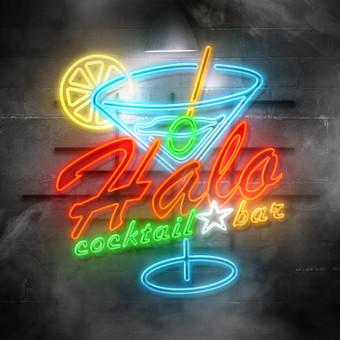 Halo cocktail bar pasiulymas logo konkursui.