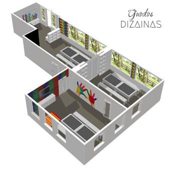 Patalpų zonavimas, baldų projektavimas