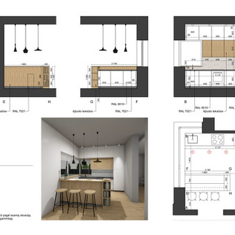 Interjero dizaino projektai / Gintarė Stonkienė / Darbų pavyzdys ID 720183