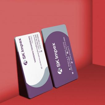 Įmonės vizitinių kortelių dizainas.