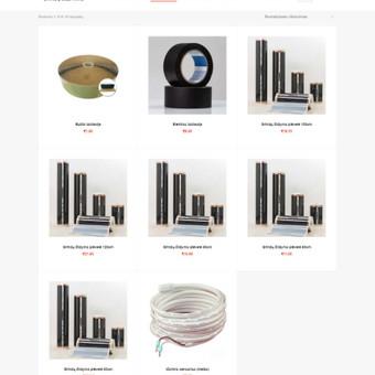 Grindų šildymo sistemų el. parduotuvės produktų sąrašas