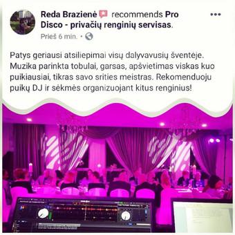 Vedėjas ir DJ viename - kokybiškas įgarsinimas, apšvietimas / ProDisco.lt / Darbų pavyzdys ID 734421