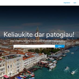 300 eurų kainuojančios internetinės svetainės dizaino pavyzdys