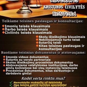 Advokatės Kristinos Čivilytės kontora Attorney at Law / Kristina Čivilytė / Darbų pavyzdys ID 94244