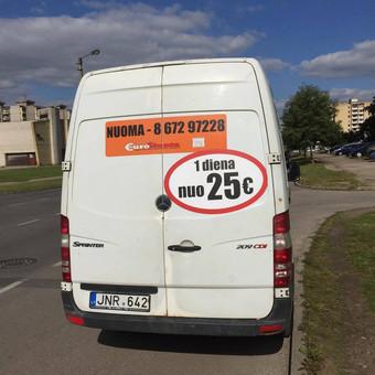 Krovininių, keleivinių mikroautobusų nuoma, vežam krovinius / Eurosiunta / Darbų pavyzdys ID 755207