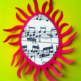 """Dekoruotas atvirukas """"Muzika gyvai"""" Art by Rama"""