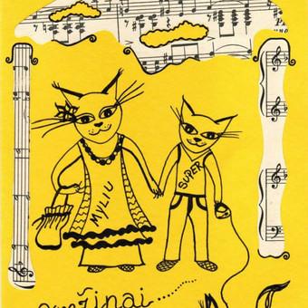 "Atvirukas ""Katinukai""  Art by Rama"