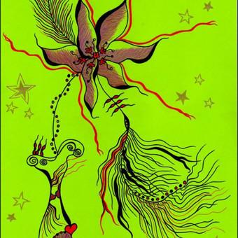 """Atvirukas """"Žydėjimas"""" / idėjos knygų iliustravimui...  Art by Rama"""