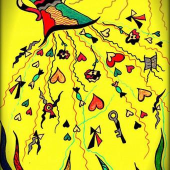 """Atvirukas """"Įsimylėjimas"""" / idėjos knygų iliustravimui... Art by Rama"""