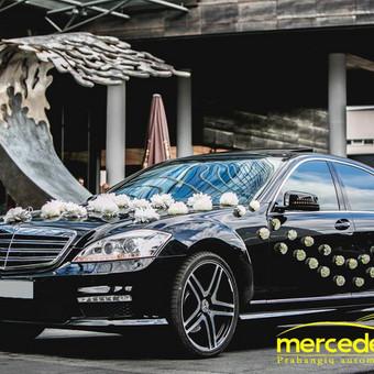 Prabangių Mercedes Benz S klasės Long nuoma / Transportas vestuvėms / Darbų pavyzdys ID 762235