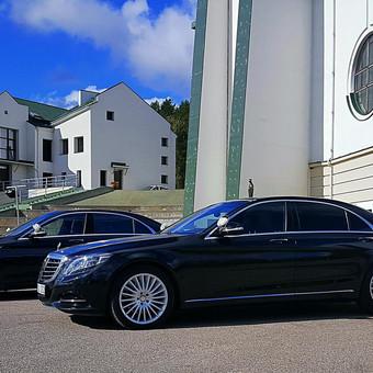 Prabangių Mercedes Benz S klasės Long nuoma / Transportas vestuvėms / Darbų pavyzdys ID 762239