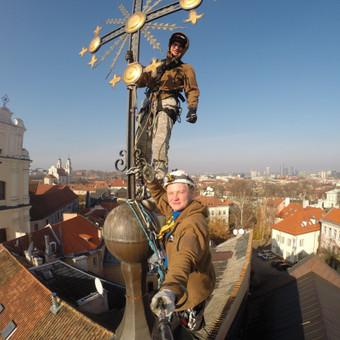 Žaibosaugos įrengimas Dievo gailestingumo šventovėje, Vilniuje