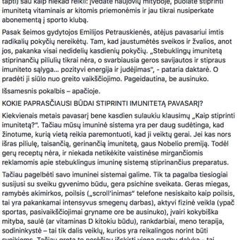 Tekstų kūrėja, copywriter, redaktorė / Milda Mizarienė / Darbų pavyzdys ID 766029
