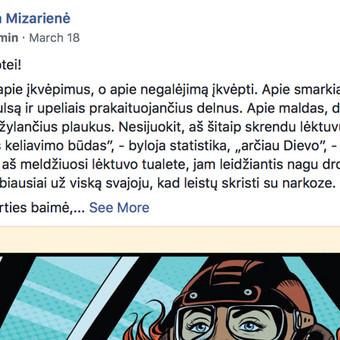 Tekstų kūrėja, copywriter, redaktorė / Milda Mizarienė / Darbų pavyzdys ID 766031