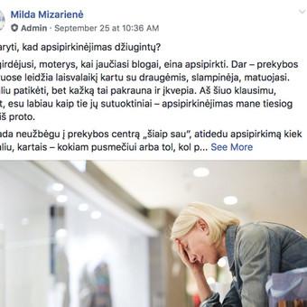Tekstų kūrėja, copywriter, redaktorė / Milda Mizarienė / Darbų pavyzdys ID 766055