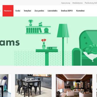 Svetainės dizainas ir iliustravimas pagal firminį stilių.