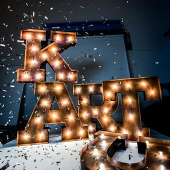 Lights&Letters sendintos raidės su antikvarinėmis lemputėmis KARTU