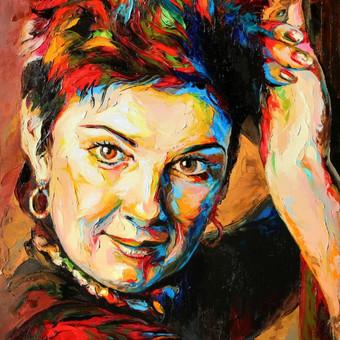 """Paveikslas """"JK15-1202 Portrait"""", aliejus-drobė, 60x90cm (PARDUOTAS)"""