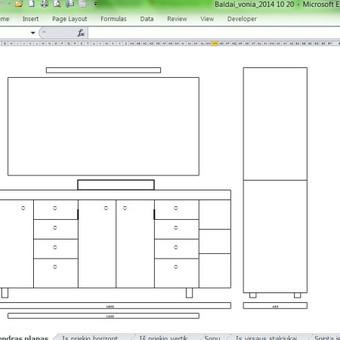 Su Excel galima projektuoti ...pavyzdžiui baldus.