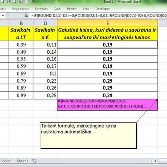 Excel galima pritaikyti marketinge.
